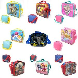 Childrens Insulated Lunch Pack Box Bag Kids Boys Girls School Food Picnic Box