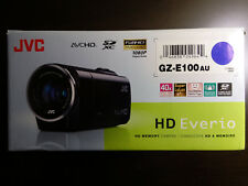 JVC Everio GZ-E100 HD Camcorder with 40x Optical Zoom, Blue