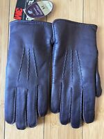Vintage 3M Thinsulate Leather Gloves JC Penny Brown New Medium
