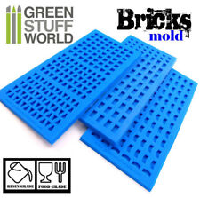 Pack x3 MOULES en silicone BRIQUES - murs modélisme miniature échelle résine
