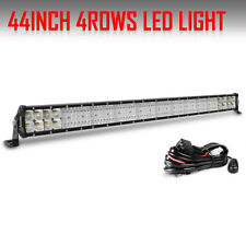 "44 Inch 5376W Quad Row Led Light Bar Combo Offroad 4WD Truck ATV PK 40/42"" 12V"