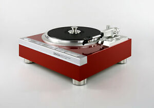 Restored Denon DP-47F Turntable Fully Automatic Caliente Red Metallic