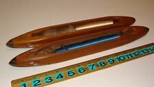 2 Vintage Weaving Loom Wood Boat Shuttles - Crossleys Ltd & Dawson Blackburn