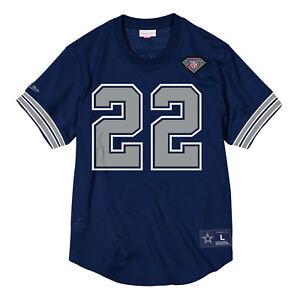 Emmitt Smith Mitchell & Ness Cowboys Name & Number Mesh Crewneck Jersey $110