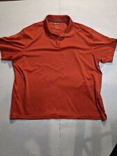 Haggar Clothing Co Golf Polo Shirt Mens size XL Red soft breathable