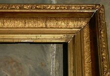 "ANTIQUE 19th CENTURY ORNATE GILT WOOD GESSO FRAME FITS 9,5"" x 11,5"" PICTURE"