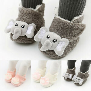 Toddler Infant Baby Boys Girls Cute Soft Winter Warm Boots Pram Shoes Booties UK