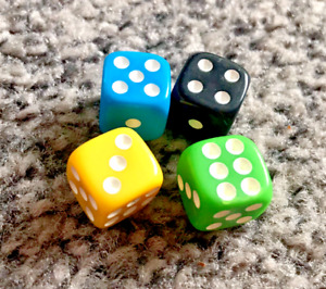 Dice sets D6 board game dice variety of colours and sizes multi packs of 10 dice