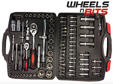 "108 PCS 1/2"" & 1/4"" DR SOCKET SET & SCREWDRIVER BIT TORX RACHET DRIVER TOOL KIT"