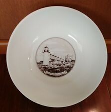 Rare Point Marshall Lighthouse Brown Transferware Serving Bowl St. George Maine