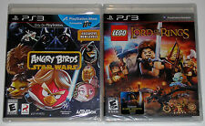 PS3 Game Lot - Angry Birds Star Wars (New) LEGO The Lord of the Rings (New)