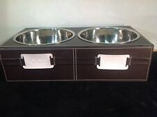 New listing Kangaroom Raised Pet Bowls for Cats or Dogs Stainless Steel And Vinyl
