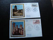 FRANCE - 2 enveloppes 1er jour 1978 (abbaye fontevraux/aubazine) (cy45) french