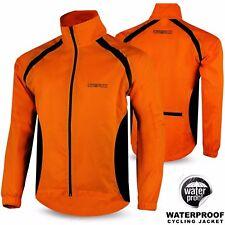 Mens Cycling Rain Jacket Waterproof Hi Visibility Running Full Sleeve Top Coat Red-black 2xl