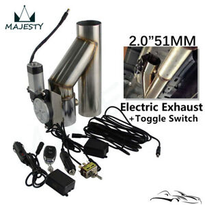 """2"""" Exhaust Catback Cutoff Valve System w/ Electric Controller +Switch Remote Kit"""