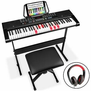 Best Choice Products 61-Key Electronic Keyboard w/ Light-Up Keys, 3 Teaching Mod