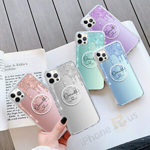 Personalised GEL Phone Case Cover And Finger Holder Stand For Apple Samsung 144