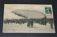 CPA 1913 AVIATION LE ZEPPELIN PIQUE DU NEZ SUITE DELESTAGE ARRIERE LUNEVILLE