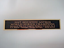 Houston Astros 2017 World Series Nameplate For A Signed Baseball Bat Case 1.25x6