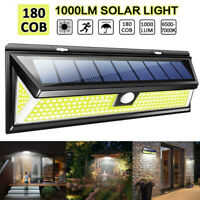 45/180LED Solar Lamp Outdoor Garden Yard PIR Motion Sensor Wall Light Waterproof