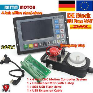 〖Ger〗 DDCSV3.1 Offline Stand Alone 4 Axis CNC Controller System W/ Handwheel MPG