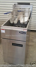 NEW 40 LB Propane LP Deep Fryer Commercial Stainless Steel Atosa #3050 NSF Food