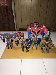 Hasbro Transformers Animated 2008 Lot! Optimus! Dinobots! Starscream! Excel Cond