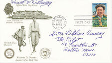 FDC FIRST DAY COVER 1988 FRANCIS D. OUIMET AMERICA'S 1ST GOLF HERO U.S. OPEN CAC