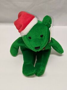 Mark McGwire #25 Salvino Bam Beano's 9 inch Green Christmas Bean Bear Santa Hat