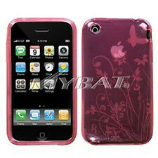 Pink Butterfly Candy Skin Case for Apple iPhone 3G 3GS