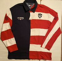 Rare Vintage 90s Tommy Hillfiger Jeans 85 Rugby Polo Long Sleeve