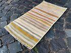 Bohemian rug, Vintage rug, Small, Handmade, Decor rug, Bedroom   1,3 x 2,5 ft