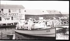 PHOTOGRAPH 1939 COAST GUARD BOAT FRONTIERA WHARF GLOUCESTER MASSACHUSETTS PHOTO