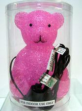 New Pink Teddy Bear Desk Table Glow Lamp Night Light Bears