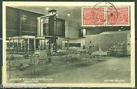 GERMANY BERLIN ERP STAMP ON GERMAN INDUSTRY EXHIBIT 1950  POSTCARD TO NY