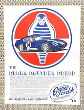 CHAMPION CAROLL SHELBY FORD COBRA DAYTONA COUPE CAR LITERATURE FACT SHEET 16