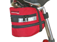 Bushwhacker Carson Red Under Seat Bike Bag Bicycle Cycling Wedge