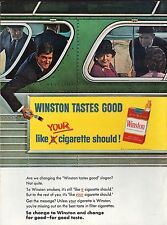 PUBLICITE  CIGARETTES WINSTON  TABAC TOBACCO  US  AD  196   * F