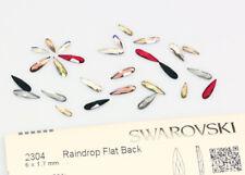 Genuine SWAROVSKI 2304 Raindrop Flat Backs No Hotfix Crystals * Many Colors