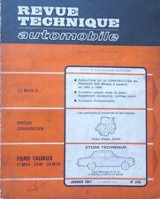 Revue technique FORD TAUNUS 17MV4 20M 20MTS 17 M 20 M ( 1964 à 1967 RTA 249 1967