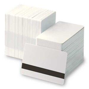 Genuine HID Blank White PVC Ultracard HiCo4000oe Mag Stripe - QTY100 - 81751