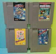 Nintendo NES Game Lot Tested Authentic Rollergames Rollerball Glove Ball Rock N