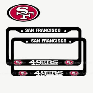 San Francisco 49er 2PCS Chrome License Plate Frame Set Auto Truck Car Tag Cover