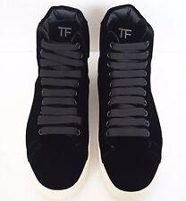 NIB TOM FORD Black VELVET Hot High-Top Fashion Sneakers Shoes 38 US-8