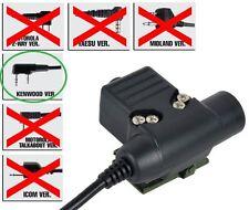 Airsoft PTT bouton radio ztactical Z sordins U94 kenwood 2 voie 2 broches