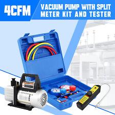 4 Cfm Combo 13hp Air Vacuum Pump Manifold Gauge Set Leak Detector Parameters