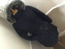 Barbour Quilted Belted Coat Navy UK 14