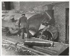 Vintage Photo of Fire Chicago Fire Department Truck Crash