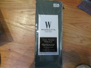 Wamsutta Cool Touch CAL KING FITTED SHEET Percale 350ct 100% Egyptian Cotton NEW