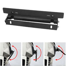 USA Adjustable Carbon Fiber Style Front Bumper License Plate Frame Mount Bracket
